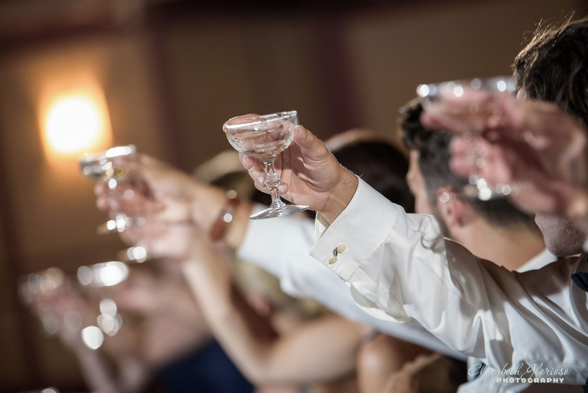 Photo of wedding toasts at the Astrodome of Parma, OH