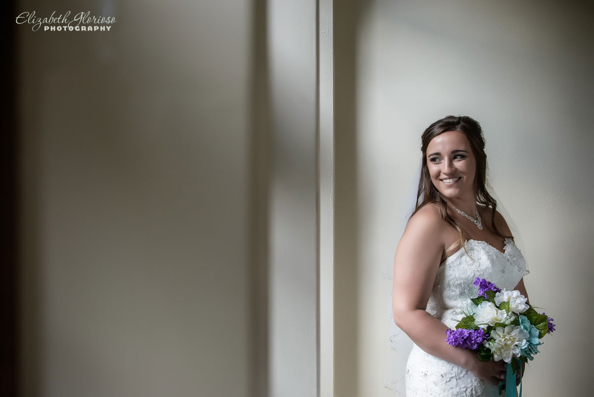 Portrait of bride at The Tudor House in Akron, OH