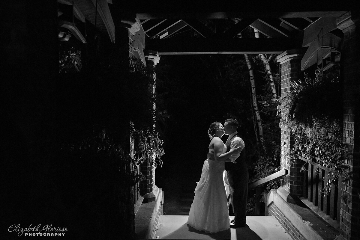 Wedding photo of bride and groom at Stan Hywet Hall in Akron, OH