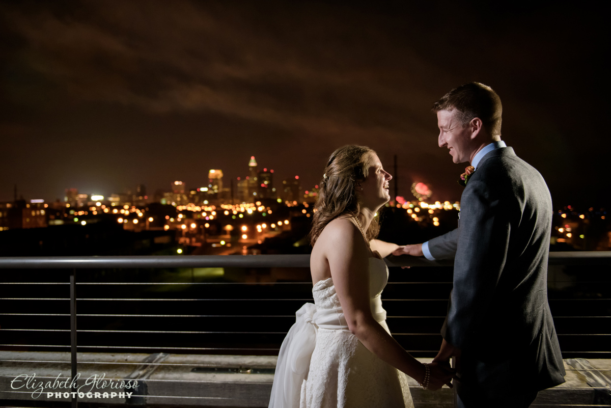 Roof top wedding at Ariel International Cleveland Ohio