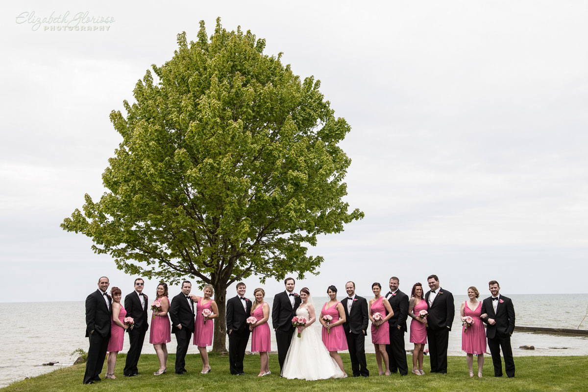 Photo of wedding party at Rocky River Park in Rocky River, OH
