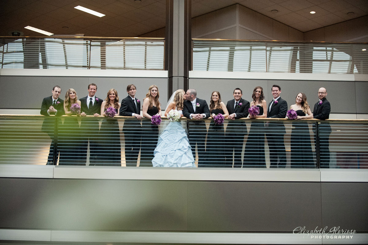 Photo of bridal party at the Cleveland Clinic TRW in Beachwood, Ohio
