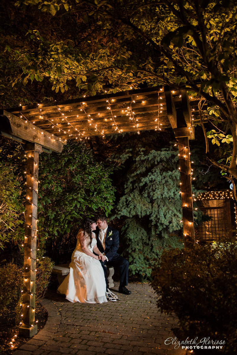 Portrait of bride and groom outdoors in Cleveland, Ohio