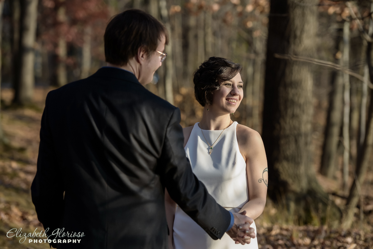 Wedding portraits at Shaker Lakes Shaker Heights Ohio
