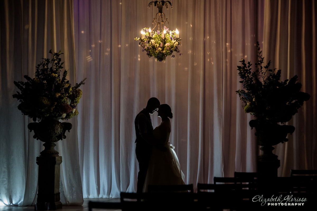 Portrait of bride and groom in Burton, OH